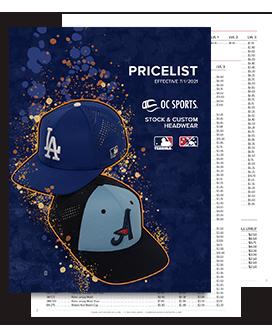 2021-2022 Team Headwear Pricelist